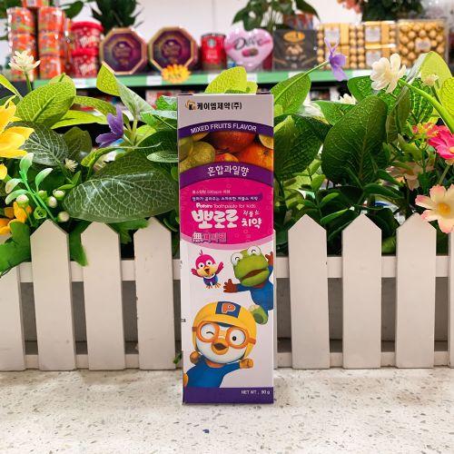 韩国啵乐乐儿童牙膏90g(什果味)