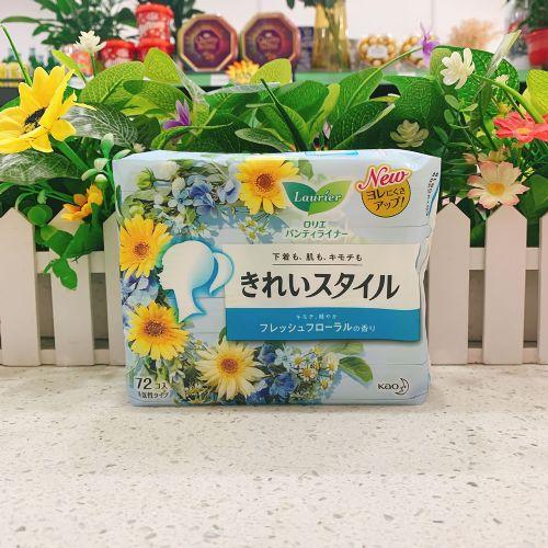 日本花王乐而雅抗菌消臭护垫72片(清新洋甘菊)