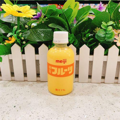 日本明治芒果味牛奶220ml