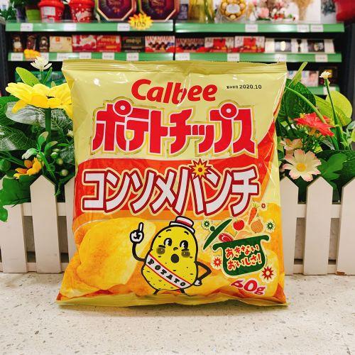 日本卡乐B特浓清汤薯片60g(袋装)
