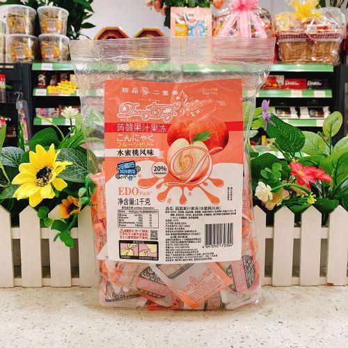 EDO Pack �X�m果汁果冻(水蜜桃风味)1kg
