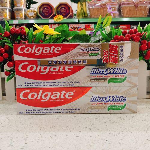 进口高露洁亮白牙膏160g×2+50G