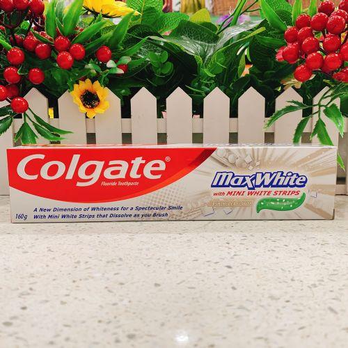 进口高露洁亮白牙膏160g
