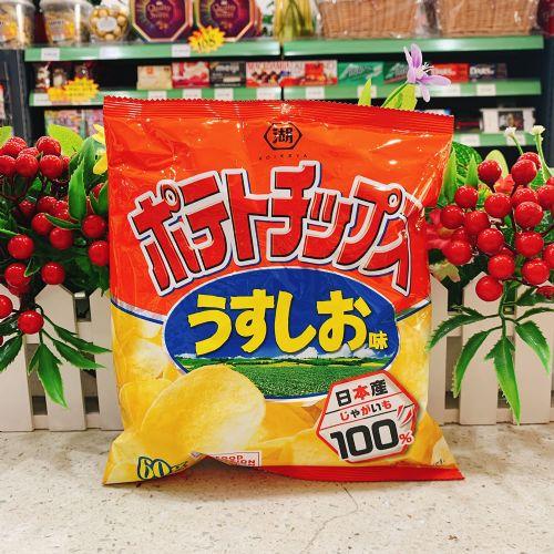 日本湖池屋盐味薯片72g(袋装)