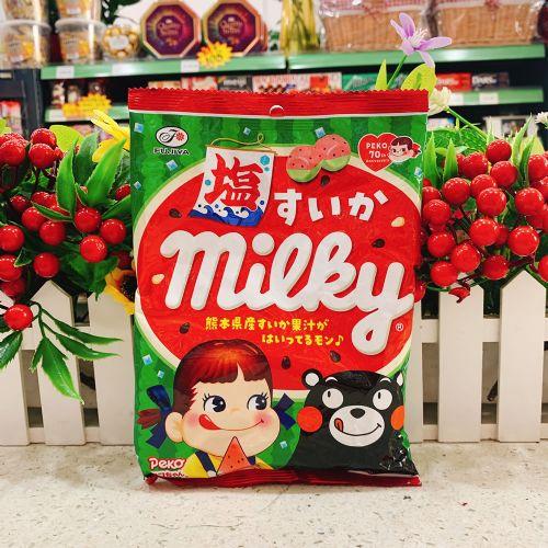 日本不二家牛奶妹熊本熊盐西瓜牛奶糖80g(袋装)