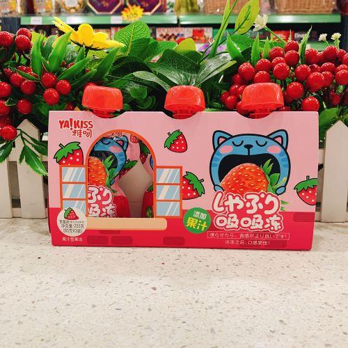 雅吻果汁吸吸冻(草莓味)85g×3袋