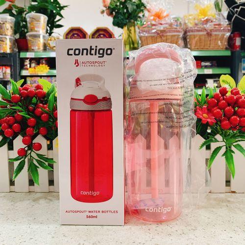 美国 Contigo 悠享每刻 Ashland锁扣运动吸管杯-樱花粉560ml HBC-ASH020