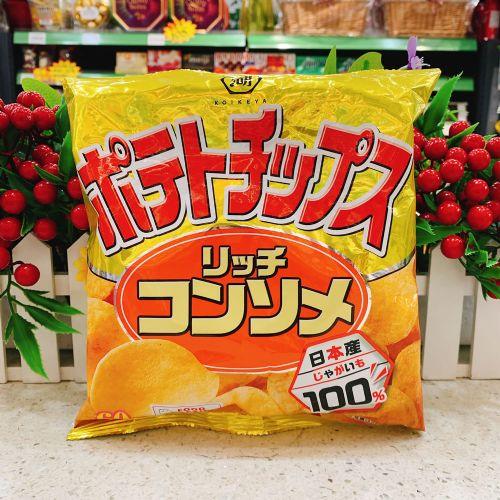 日本湖池屋清汤味薯片60g(袋装)