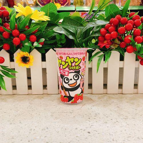 日本明治熊猫草莓朱古力饼48g(杯装)