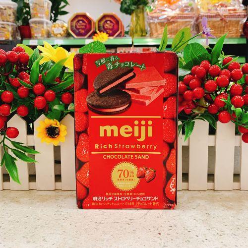 日本明治草莓夹心饼干6枚(盒装)