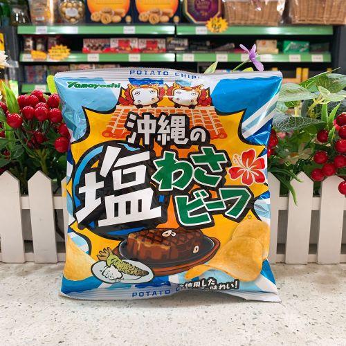 日本山芳冲绳盐芥辣牛肉薯片48g(袋装)