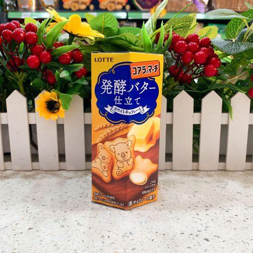 日本乐天发酵牛油朱古力熊仔饼48g(六角盒)