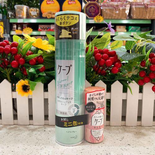 日本花王头发定型发胶(绿色)180ml+27ml