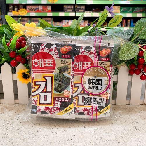 8包装韩国海牌/海飘/绿子海苔紫菜番茄味