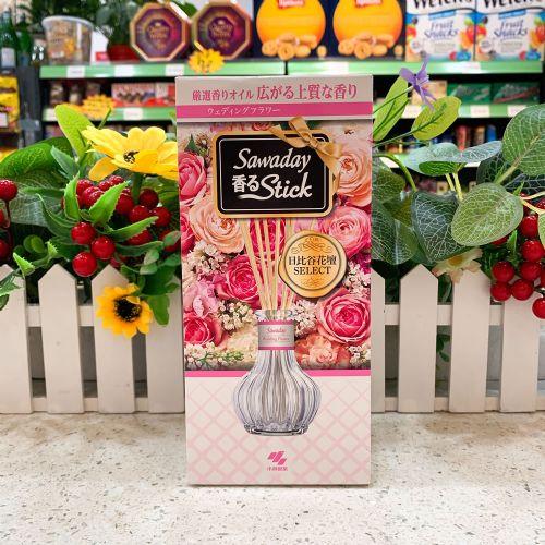日本小林制药室内香薰香水棒空气清新剂玫红色清新茉莉70ml