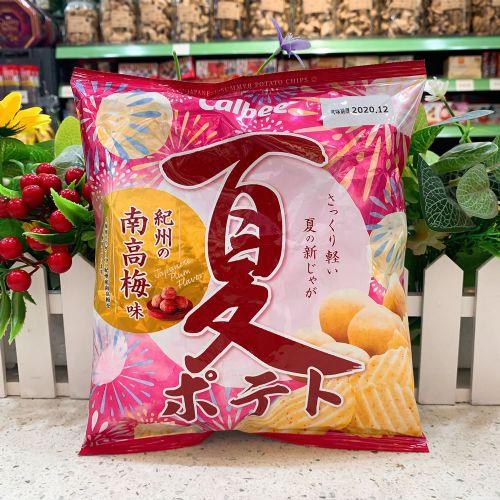 日本卡乐B 夏日南高梅味波浪薯片65g(袋装)