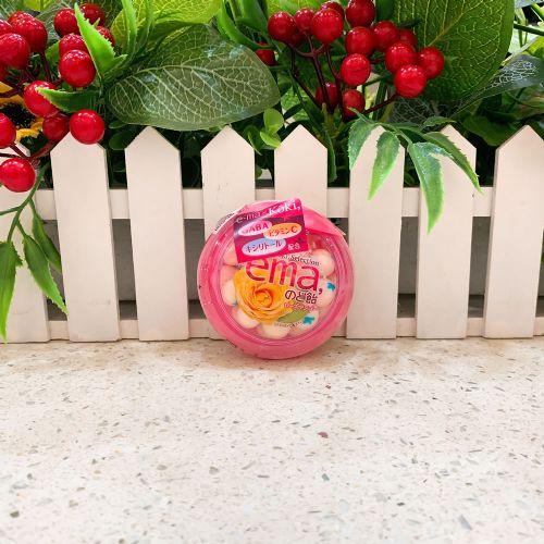 日本UHA味觉e-ma玫瑰芒果润喉糖33g(圆樽装)