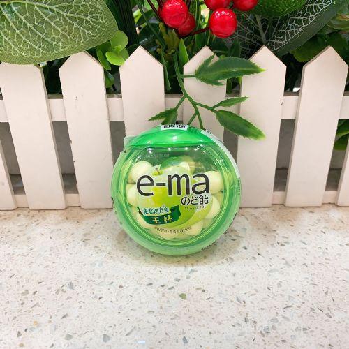 日本UHA味觉e-ma王林青苹果果汁润喉糖33g(圆樽装)