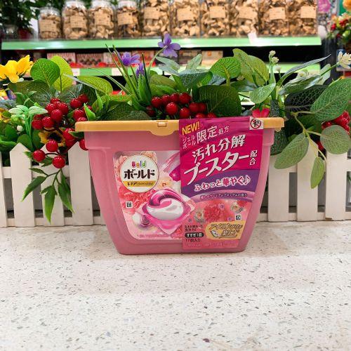 日本宝洁洗衣珠347g 粉色玫瑰花香