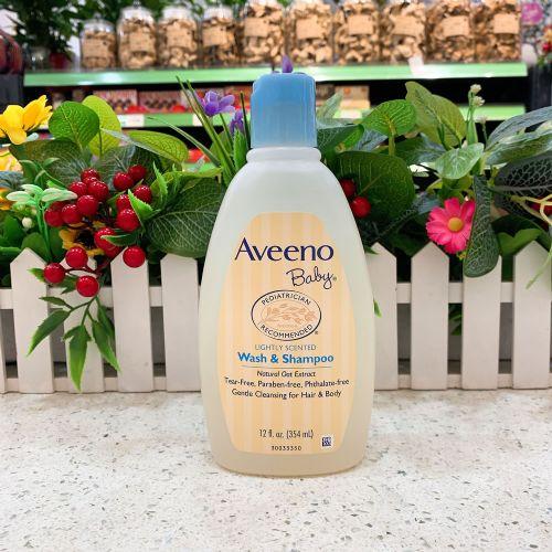 美国Aveeno婴儿燕麦洗发水沐浴露二合一354ml