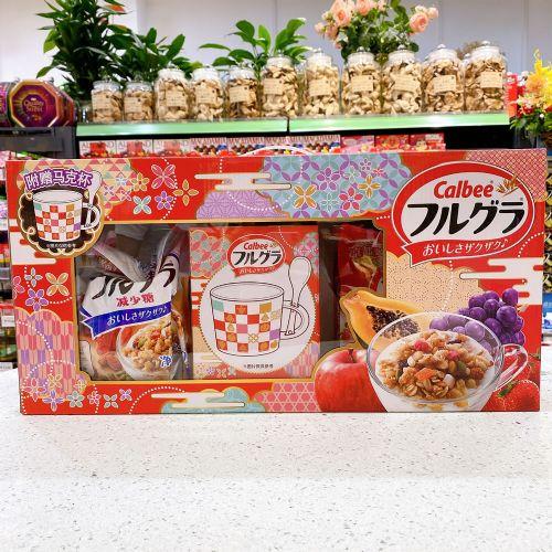日本卡乐B麦片礼盒(500g+450g+马克杯)