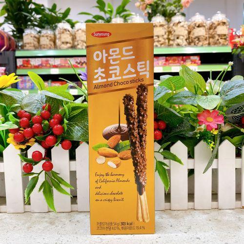 韩国Sunyoung皮可米扁桃仁味巧克力棒饼干54g