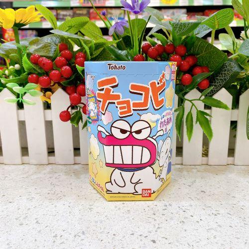 日本桃哈多蜡笔小新棉花糖味星形脆片18g(六角盒)
