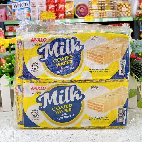 阿波罗牛奶威化150g×4包