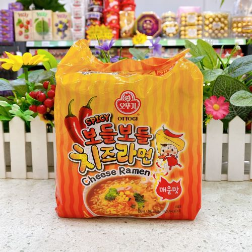 韩国不倒翁香辣芝士拉面111g×4