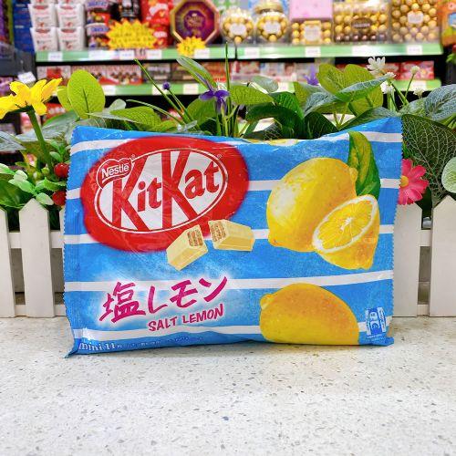 日本雀巢KitKat 柠檬盐味威化朱古力11枚(袋装)