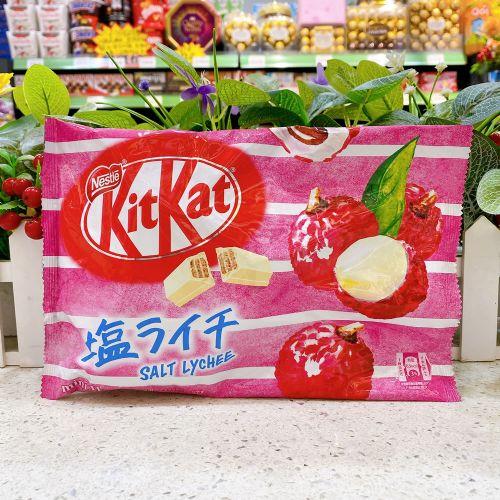日本雀巢KitKat 荔枝盐味威化朱古力11枚(袋装)