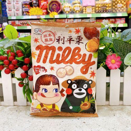 日本不二家牛奶妹熊本熊栗子牛奶糖80g(袋装)