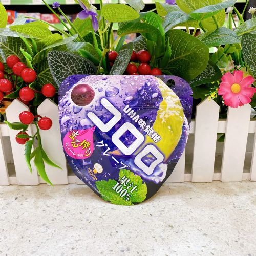 日本UHA悠哈味觉糖100%果汁软糖(紫提味)48g