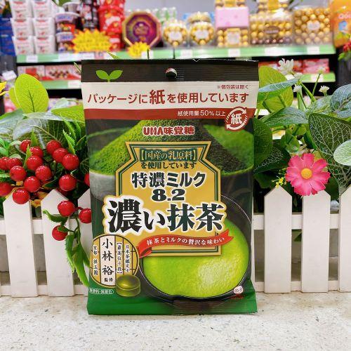日本UHA味觉8.2特浓抹茶牛奶糖75g(袋装)