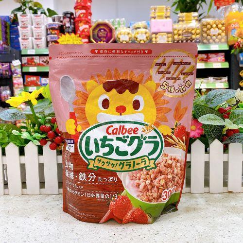 日本卡乐B 五种谷物草莓燕麦片300g(袋装)