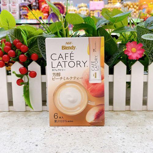日本AGF Blendy即溶芳醇香桃奶茶粉6本(盒装)