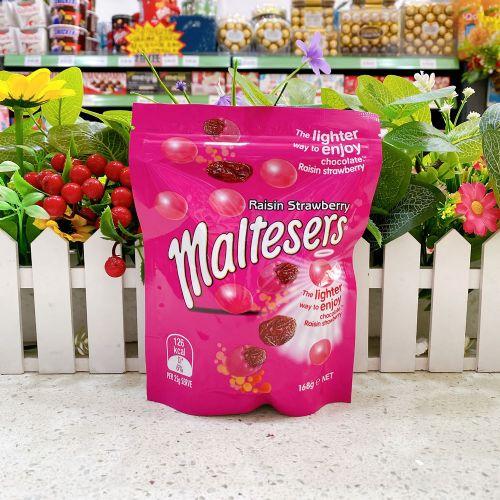 澳洲maltesers麦提莎草莓味提子夹心巧克力袋装168g