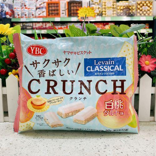日本YBC CRUNCH白桃芝士忌廉脆脆夹心朱古力90g(袋装)