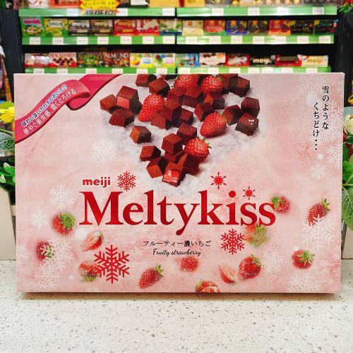 日本明治Meltykiss雪吻巧克力(草莓味)116g