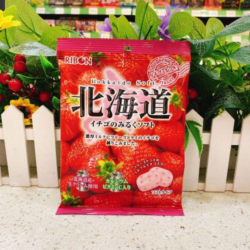 日本Ribon北海道草莓牛奶味软糖60g(袋装)