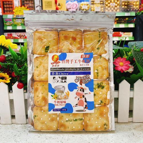 台湾美琪莎纯手工香葱牛轧饼(牛奶原味)180g