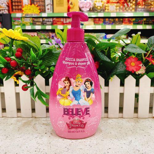 意大利迪士尼二合一洗发水沐浴露500ml(粉色)