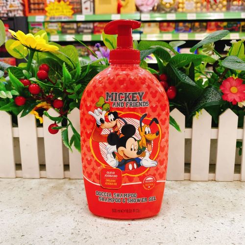 意大利迪士尼二合一洗发水沐浴露500ml(红色)