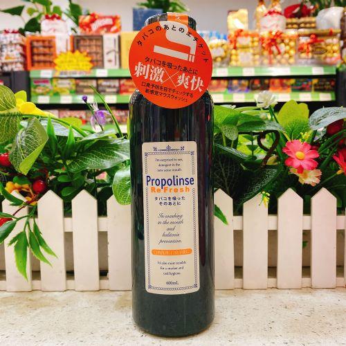 日本Propolinse比那氏漱口水去烟渍防臭黑色瓶装600ml
