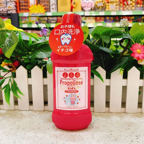 日本Propolinse比那氏草莓味漱口水285ml