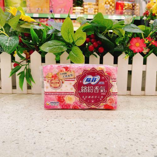 苏菲缤纷香气超薄护垫40片(甜心玫瑰)