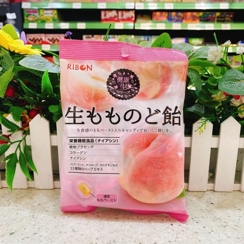 RIBON理本白桃味硬糖90g(15粒)