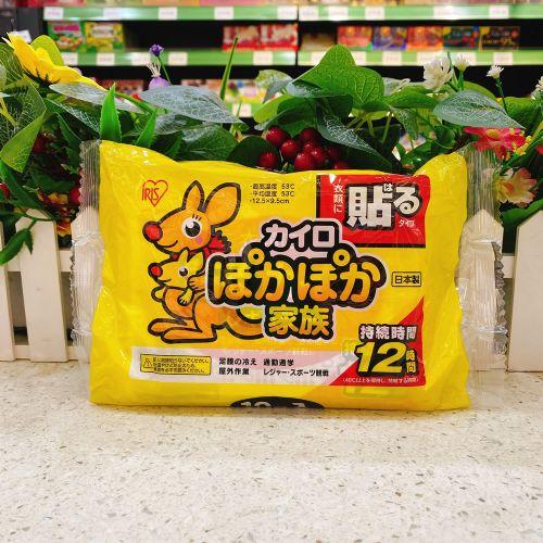 日本IRIS袋鼠暖宝宝贴10片装