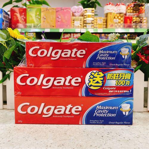 进口高露洁防蛀牙膏250g×2+100G