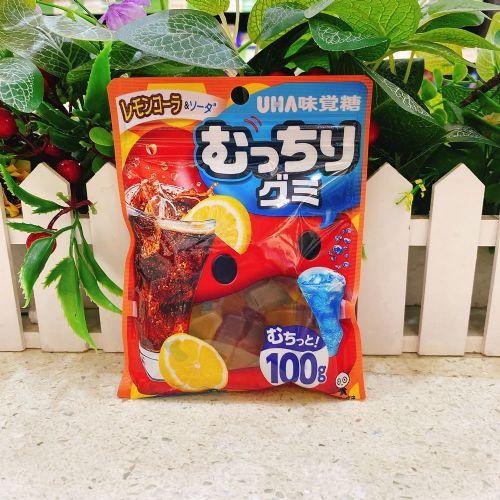 UHA味觉提子柠檬可乐苏打汽水软糖100g(袋装)